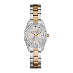 Caravelle New York® Womens Crystal-Accent Two-Tone Stainless Steel Watch 45M108