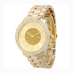 Olivia Pratt Womens Gold Tone Bracelet Watch-13839