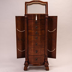 Hives & Honey Nicole Antique Walnut Locakble Jewelry Armoire