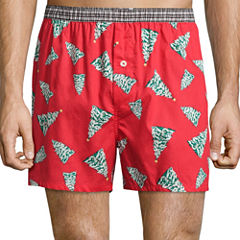 Stafford® Woven Holiday Boxers
