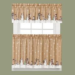 Aspen Snow Rod-Pocket Kitchen Curtains