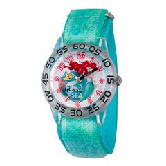 Disney Princess Ariel The Little Mermaid Girls Green Strap Watch-Wds000173