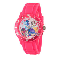 Disney Princess Beauty and the Beast Womens Pink Strap Watch-Wds000212