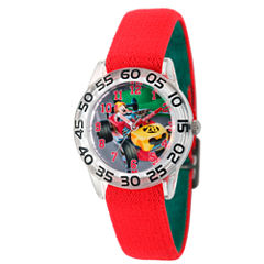 Disney Mickey Mouse Boys Red Strap Watch-Wds000213