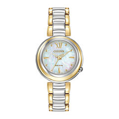 Citizen® Eco-Drive® Sunrise Womens Two-Tone Bracelet Watch