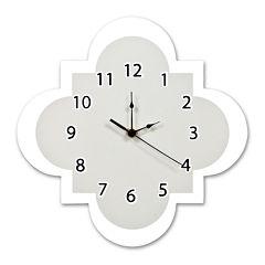 Trend Lab® Gray Quatrefoil Wall Clock