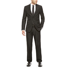 JF J. Ferrar® Slim-Fit Black Box Check Suit Separates