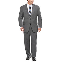 Stafford® Travel Stretch Charcoal Windowpane Suit Separates - Big & Tall