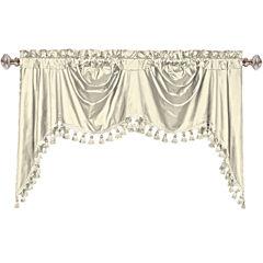 United Curtain Co. Austrian Dupioni Silk Back-Tab Valance