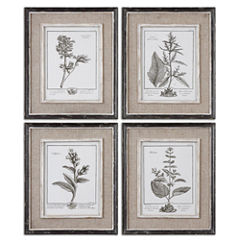 Set of 4 Framed Gray Study Art Pieces