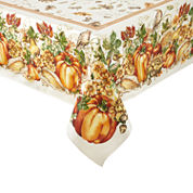 JCPenney Home™ Harvest Pumpkin Border Tablecloth