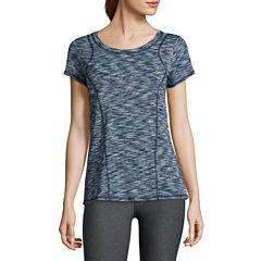 Xersion™ Short-Sleeve Space-Dye Elastic-Back Tee - Tall