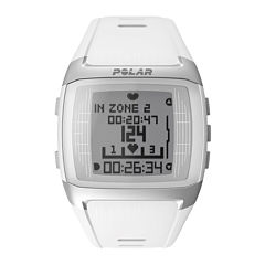Polar® FT60 Womens Heart-Rate Monitor Chronograph White Strap Watch