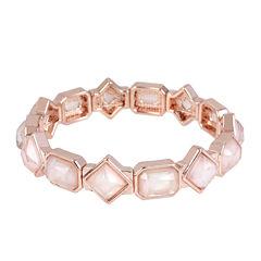 Worthington® Pink Stone Rose-Tone Stretch Bracelet