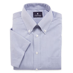 Stafford® Travel Performance Short-Sleeve Oxford Dress Shirt