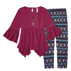 Knit Works 2-pc. Legging Set-Big Kid Girls