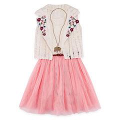Total Girl Blush Sleeveless Moto Jacket Dress - Girls' 7-16 & Plus