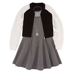 Total Girl Sleeveless Skater Dress With Jacket - Big Kid Girls