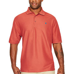 IZOD Short Sleeve Advantage Solid Pique Polo Shirt- Big & Tall