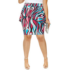 Laila High-Low Peplum Pencil Skirt