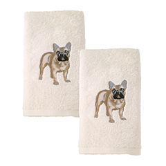 Avanti 2pk Dog French Bulldog 2-pc. Embroidered Hand Towel