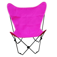 Butterfly Chair Cover With Black Frame 2-pc. PatioLounge Chair