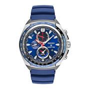 Seiko Mens Blue Strap Watch-Ssc489