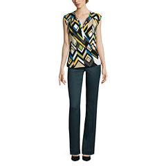 Worthington® Surplice Top or Curvy-Fit Pants