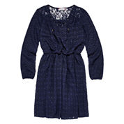 Speechless® Long-Sleeve Navy Peasant Dress - Girls 7-16 and Plus