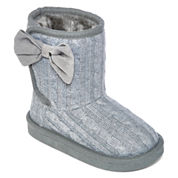 Okie Dokie® Maisy Girls Sweater Boots - Toddler