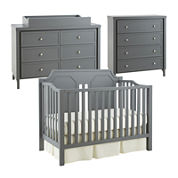 Savanna Carli 3-pc. Baby Furniture Set - Grey