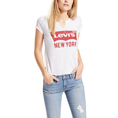 Levi's Short Sleeve Crew Neck T-Shirt-Womens