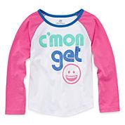 Okie Dokie® Long-Sleeve Raglan Tee - Toddler Girls 2t-5t