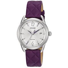 Citizen Womens Purple Strap Watch-Fe6080-03a