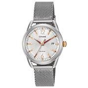 Citizen Womens Silver Tone Bracelet Watch-Fe6081-51a