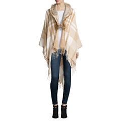 Mixit™ Plaid Wrap with Fur