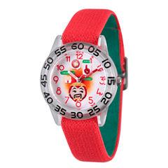 Emoji Marvel Boys Red Strap Watch-Wma000081
