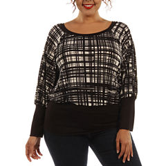 24/7 Comfort Apparel Modern Glamour Tube Top Plus