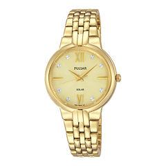 Pulsar Womens Silver Tone Bracelet Watch-Py5026