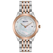 Bulova Womens Two Tone Bracelet Watch-98p162