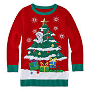 Total Girl® Long-Sleeve Christmas Tunic - Girls 7-16 and Plus
