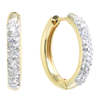 Sparkle Allure Crystal Huggie 1 Pair Hoop Earrings
