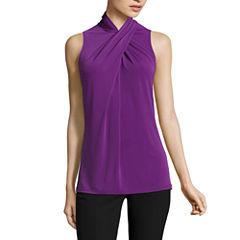 Worthington Sleeveless Knit Blouse-Talls