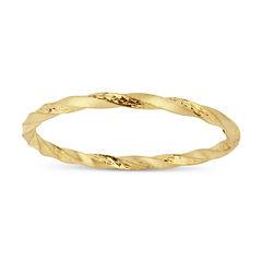 Womens 18K Gold Over Silver Bangle Bracelet