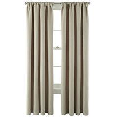 MarthaWindow™ Hampton Basketweave Rod-Pocket/Back-Tab Curtain Panel
