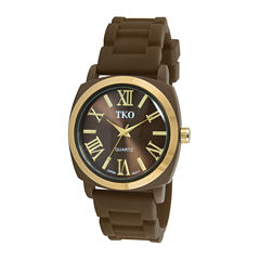 TKO ORLOGI Milano III Womens Brown Silicone Strap Watch