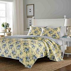 Laura Ashley Linley Floral Quilt Set