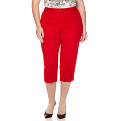 Liz Claiborne® Emma Cropped Pants - Plus
