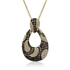 Grand Sample Sale™ by Le Vian® 1 1/2 CT. T.W. Vanilla Diamonds® & Chocolate Diamonds® in 14k Honey Gold™ Chocolatier® Pendant