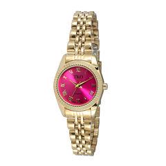 TKO ORLOGI Womens Pink Dial Petite Bracelet Watch